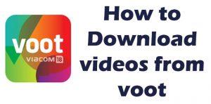 download videos from voot