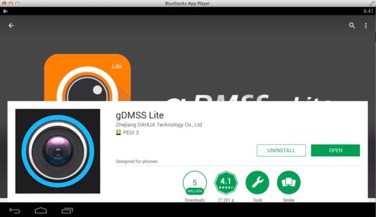gDMSS Lite on pc bluestacks