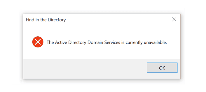 {*Solution*}Fix Active Directory Domain Services Currently Unavailable Printer Error